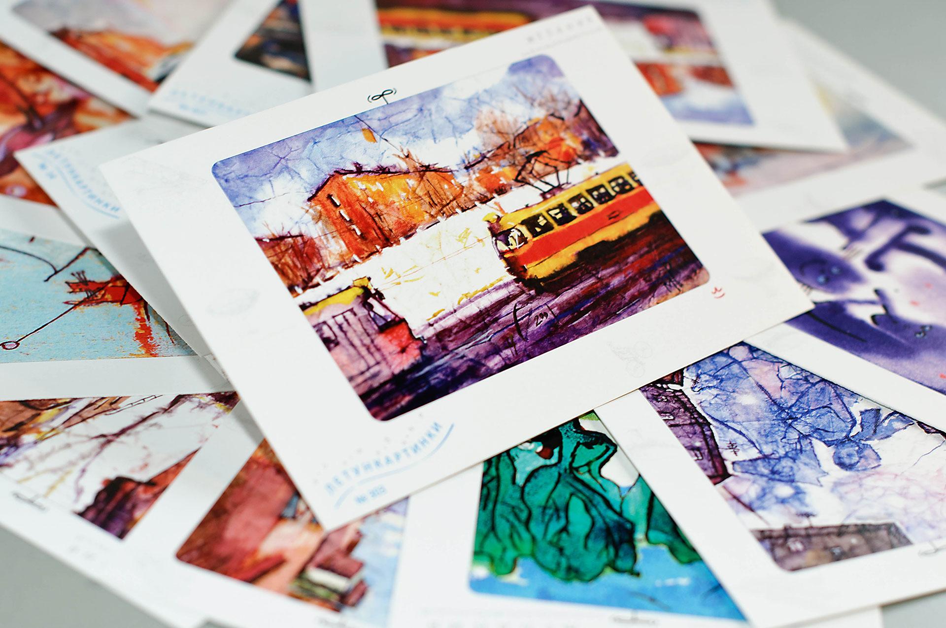 Печать открыток и фото с применением декора и текста, любви надписями